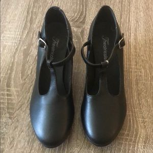 Other - TheatricalsPro Black Jazz T-strap  Shoes Size 4